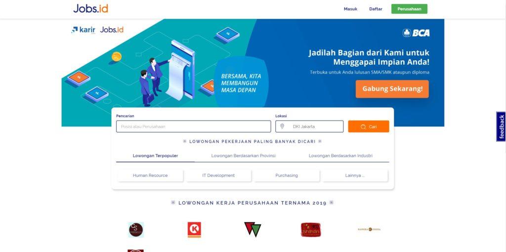10 Tempat Cari Lowongan Kerja Paling Lengkap di Indonesia 3