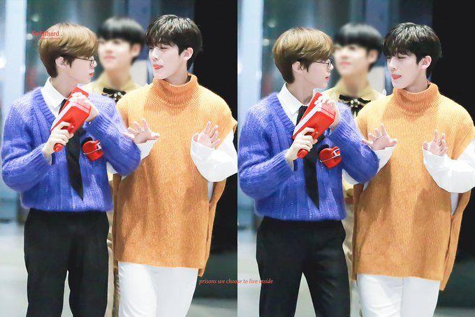 Sempat Bersaing Merebut Posisi Center Produce X 101, Inilah 10 Foto Kedekatan Kim Yoo Han dan Kim Woo Seok X1 11