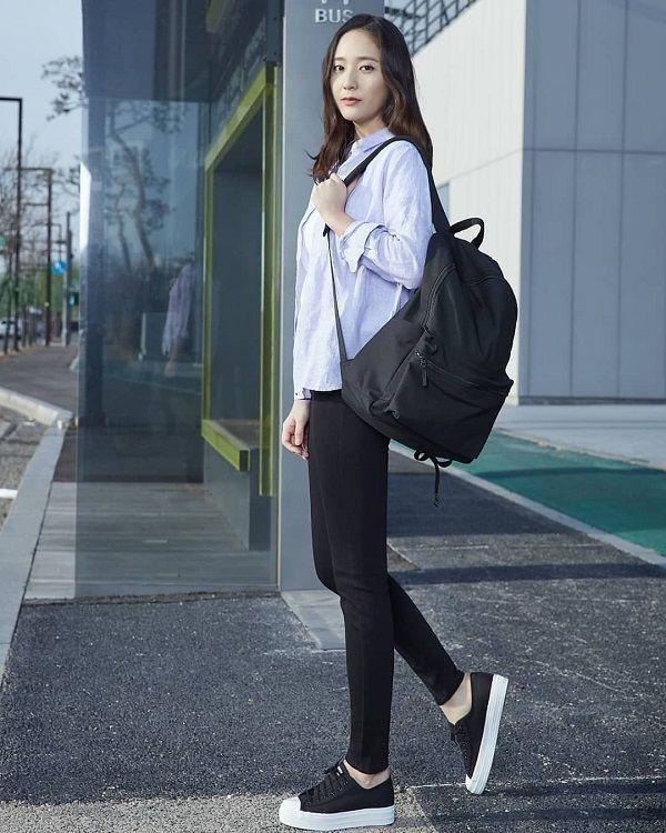 10 Inspirasi Casual Style Oleh Krystal Jung Yang Tidak Ketinggalan Jaman 6
