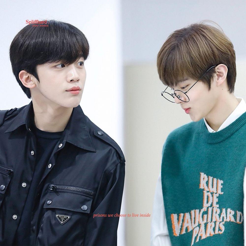 Sempat Bersaing Merebut Posisi Center Produce X 101, Inilah 10 Foto Kedekatan Kim Yoo Han dan Kim Woo Seok X1 12