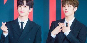 Sempat Bersaing Merebut Posisi Center Produce X 101, Inilah 10 Foto Kedekatan Kim Yoo Han dan Kim Woo Seok X1 18