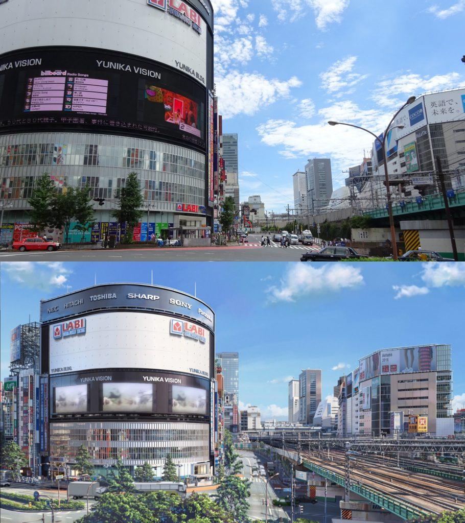 10 Foto Lokasi Asli dari Film Anime Kimi no Na wa 4