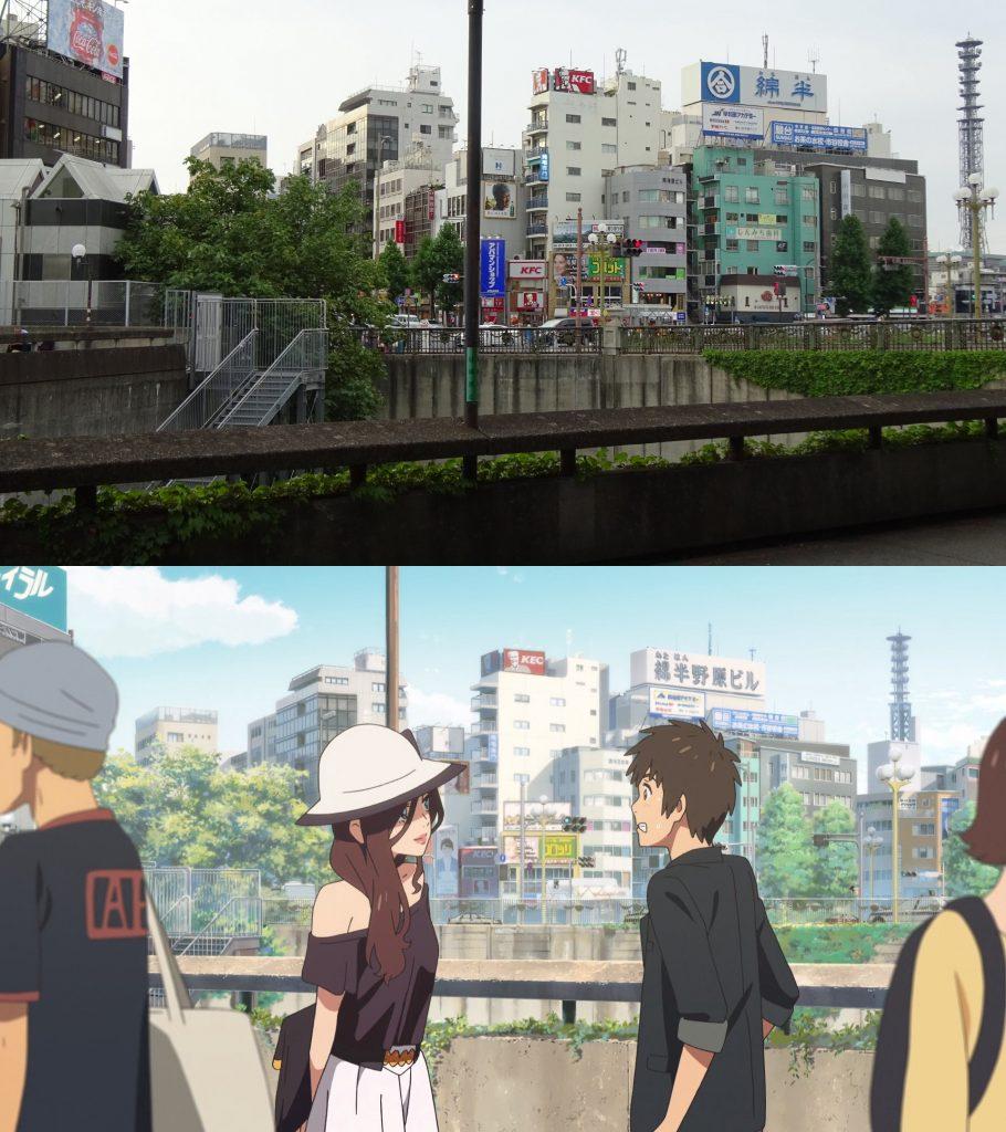 10 Foto Lokasi Asli dari Film Anime Kimi no Na wa 8