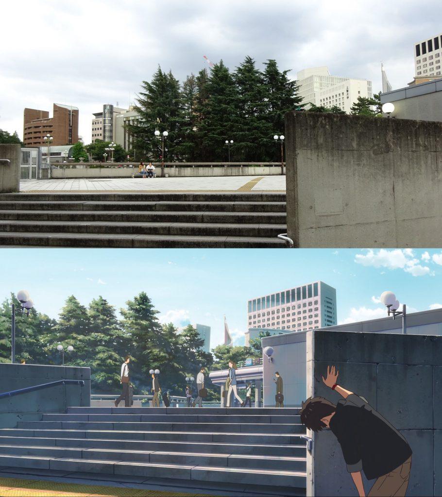 10 Foto Lokasi Asli dari Film Anime Kimi no Na wa 7