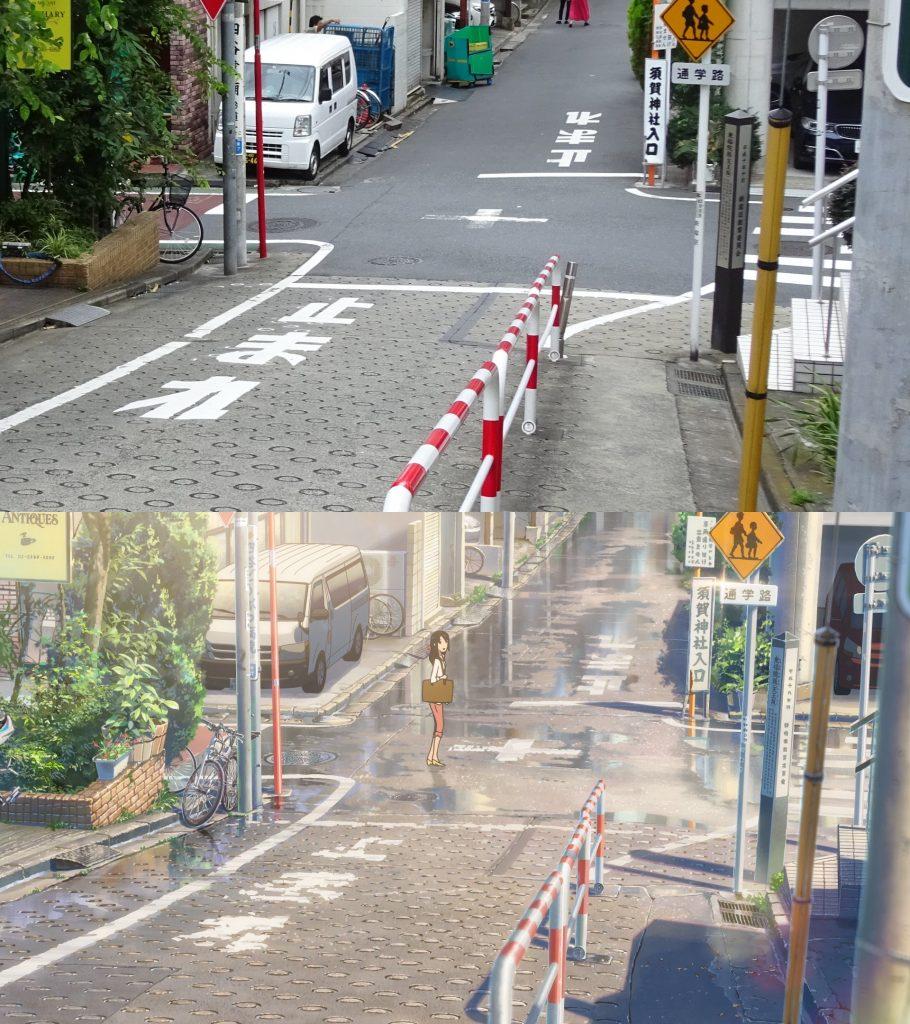 10 Foto Lokasi Asli dari Film Anime Kimi no Na wa 12