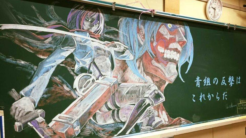 10 Seni Papan Tulis Kapur Anime Ini Bisa Bikin Kamu Terkagum-kagum 3
