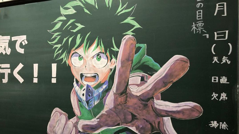 10 Seni Papan Tulis Kapur Anime Ini Bisa Bikin Kamu Terkagum-kagum 9