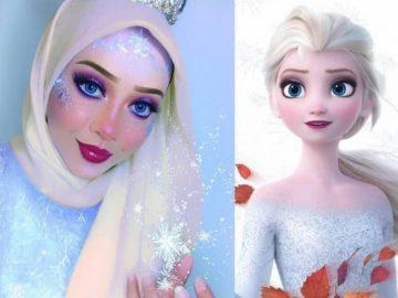 13 Gaya Hijab Ala Putri Disney, Cantik Abis! 12