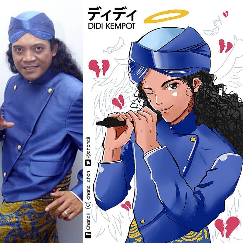 Seniman Lokal Ubah 5 Tokoh Indonesia Ini Menjadi Karakter Anime 7