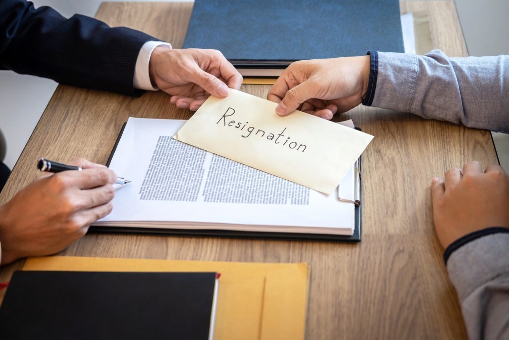 Contoh Surat Resign atau Pengunduran Diri 1
