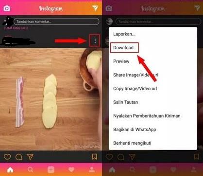 Cara Mengganti Tema dan Mendownload Konten di Instagram 7