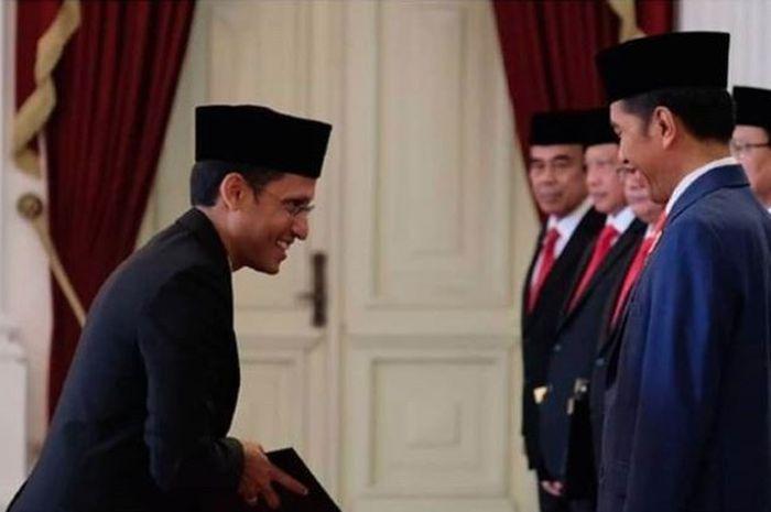Jokowi dan Nadiem Makarim