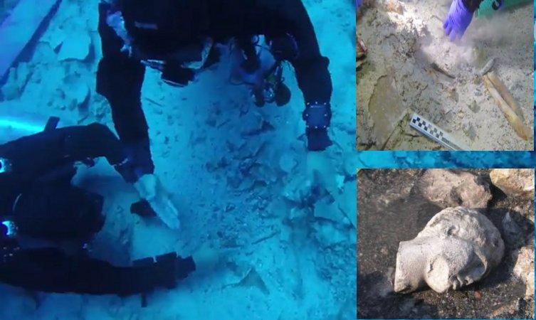 Tim arkeolog bawah laut di situs Pertempuran Salamis