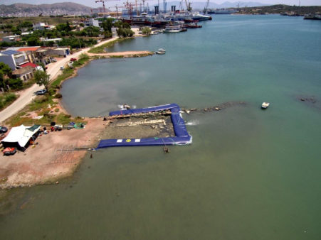 Lokasi penelitian situs Pertempuran Salamis
