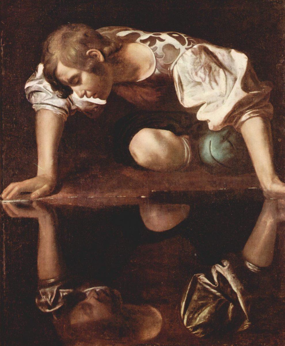 Narkissos karya pelukis Michelangelo Caravaggio
