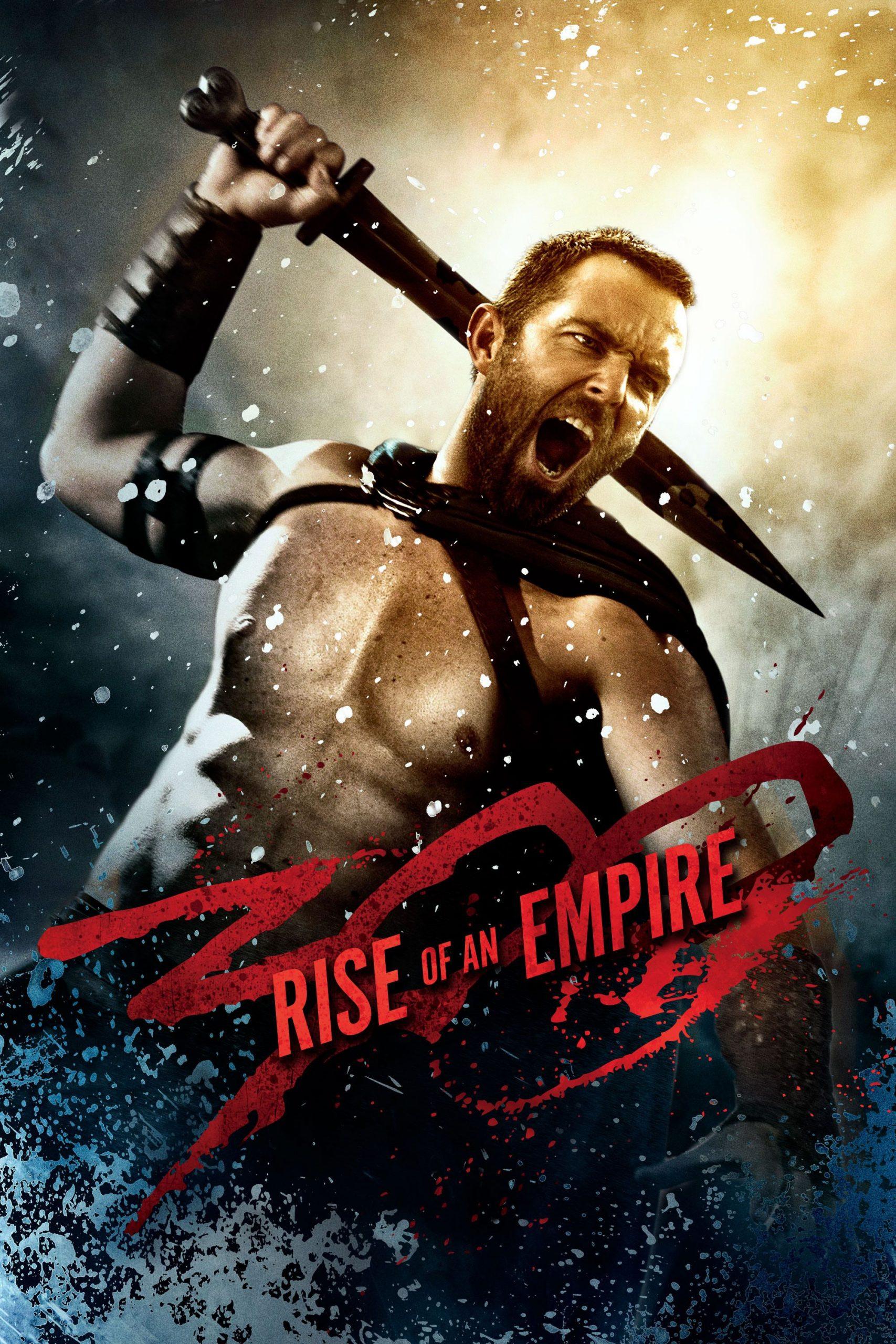 Salah satu poster film 300 Rise of An Empire yang menampilkan tokoh Themistokles, pemimpin angkatan laut Yunani dalam Pertempuran Salamis
