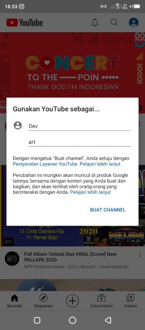 Cara Membuat Channel Youtube Dengan Android Dengan Mudah 4
