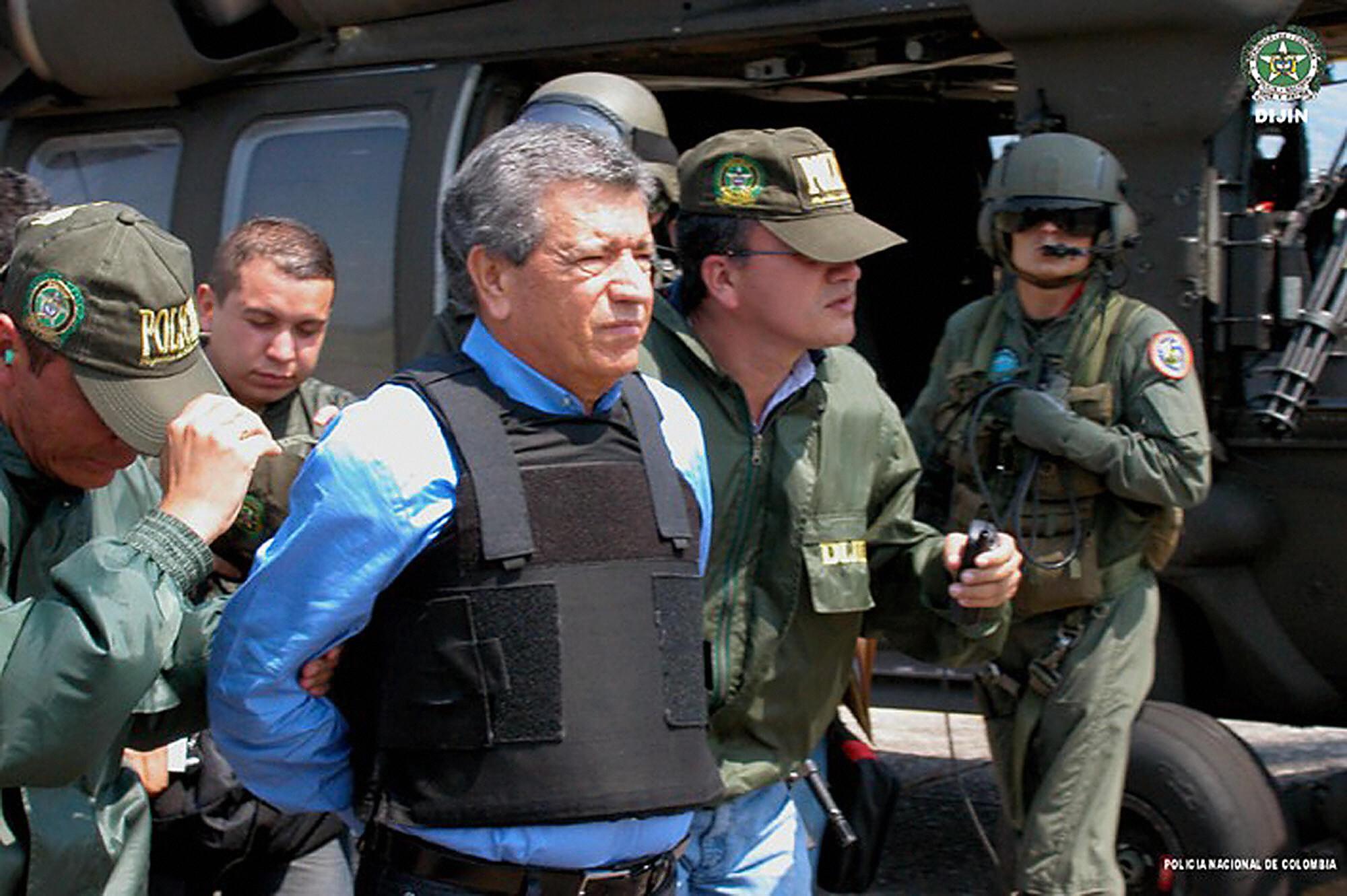 Miguel Rodriguez Orejuela saat ekstradisi.