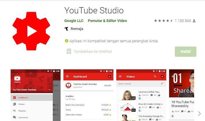 Mengelola Youtube Dari Handphone, Ini Aplikasi Yang Wajib Dipasang 4