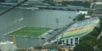 Stadion Unik Terapung Terbesar di Dunia, Podium Apung Marina Bay, Singapore 16