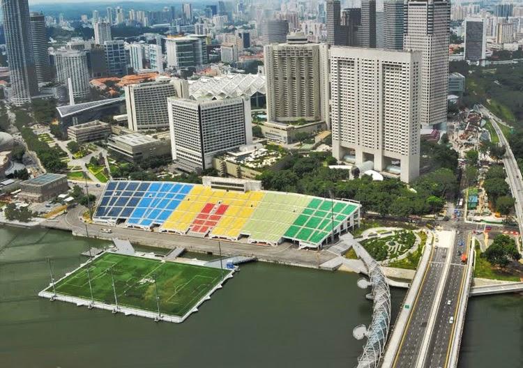 Stadion Unik Terapung Terbesar di Dunia, Podium Apung Marina Bay, Singapore 3