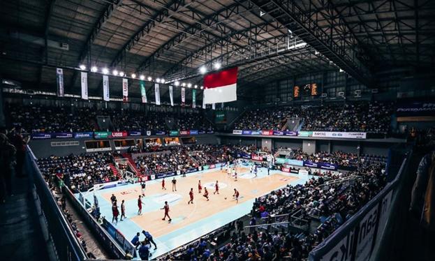 Salah satu pertandingan Indonesian Basketball League 2020