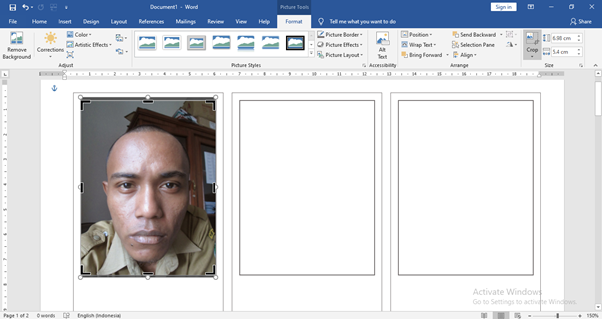 Langkah Mudah membuat Foto Polaroid Sendiri di Word 14