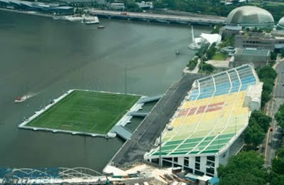 Stadion Unik Terapung Terbesar di Dunia, Podium Apung Marina Bay, Singapore 4