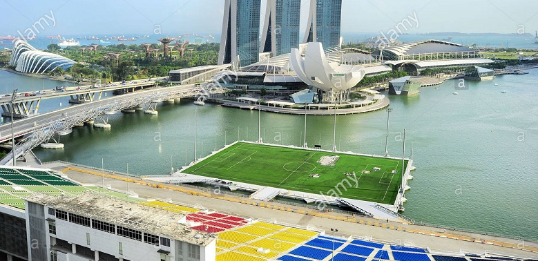 Stadion Unik Terapung Terbesar di Dunia, Podium Apung Marina Bay, Singapore 5