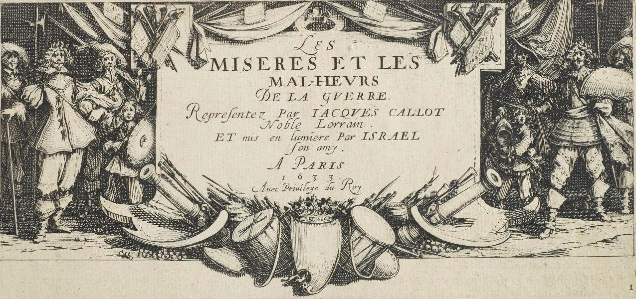FronstispieceLes Grandes Misères de la Guerre. Sumber gambar: wikimedia.org