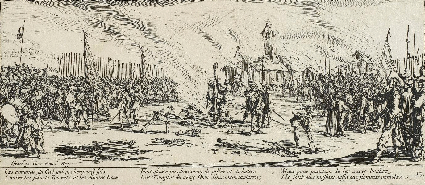 Le bûcher.Sumber gambar: wikimedia.org
