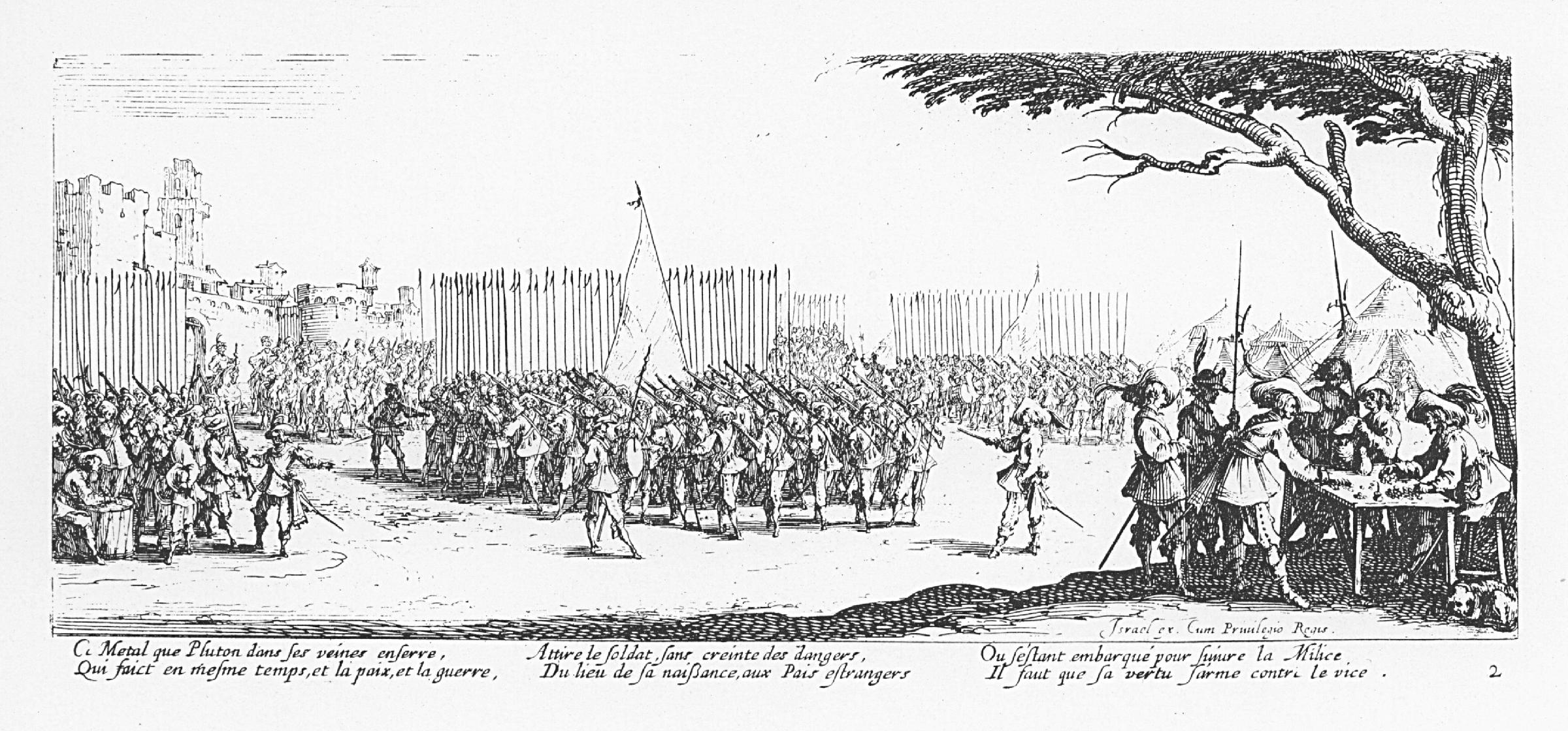 L'enrôlement des troupes.Sumber gambar: wikimedia.org