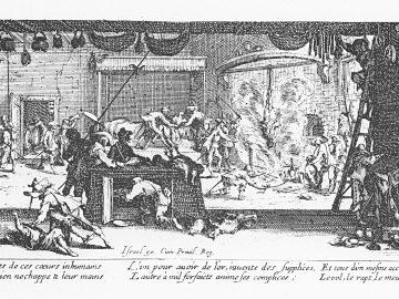 18 Lukisan abad 17 Les Grandes Misères de la guerre tentang Perang Eropa 7