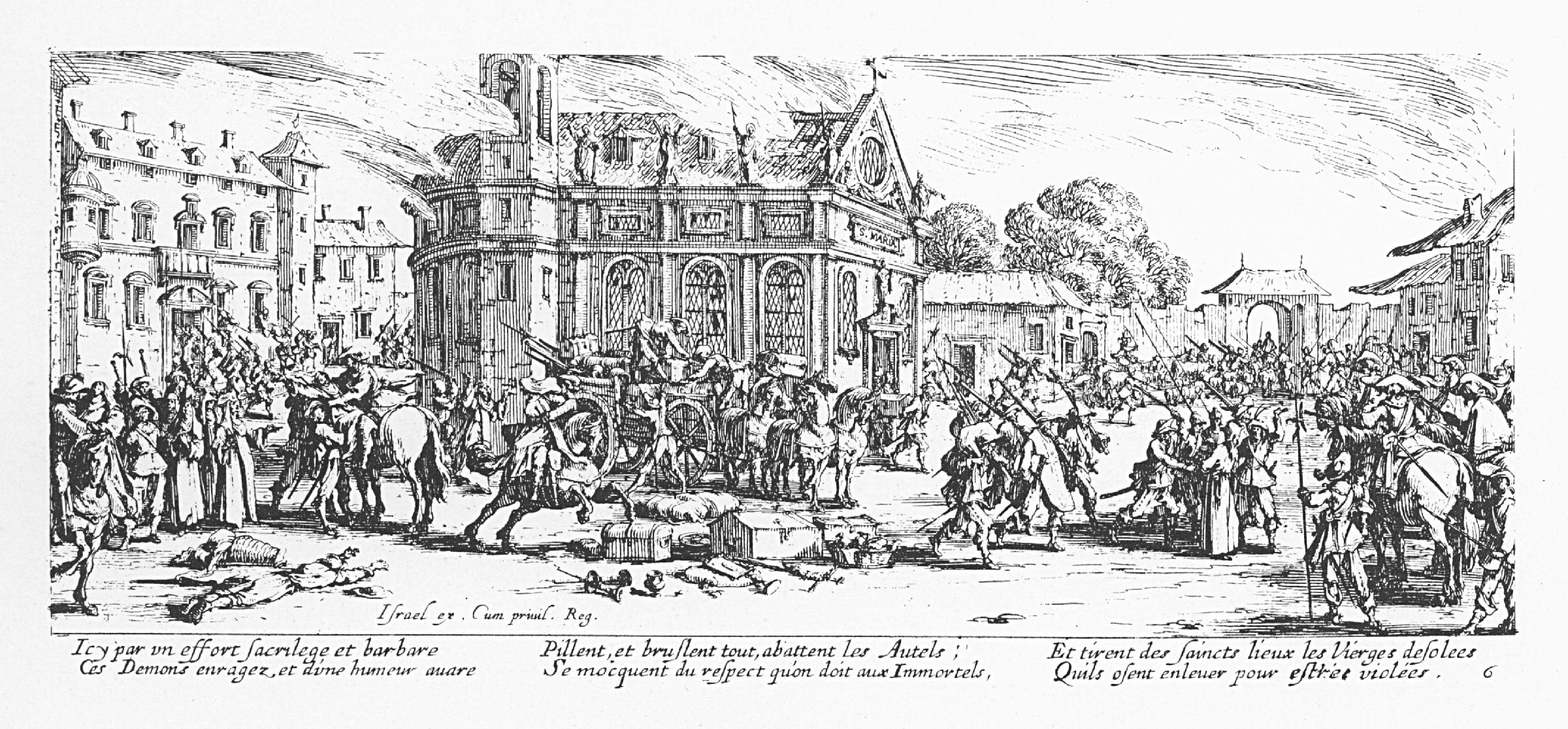 Dévastation d'un monastère.Sumber gambar: wikimedia.org