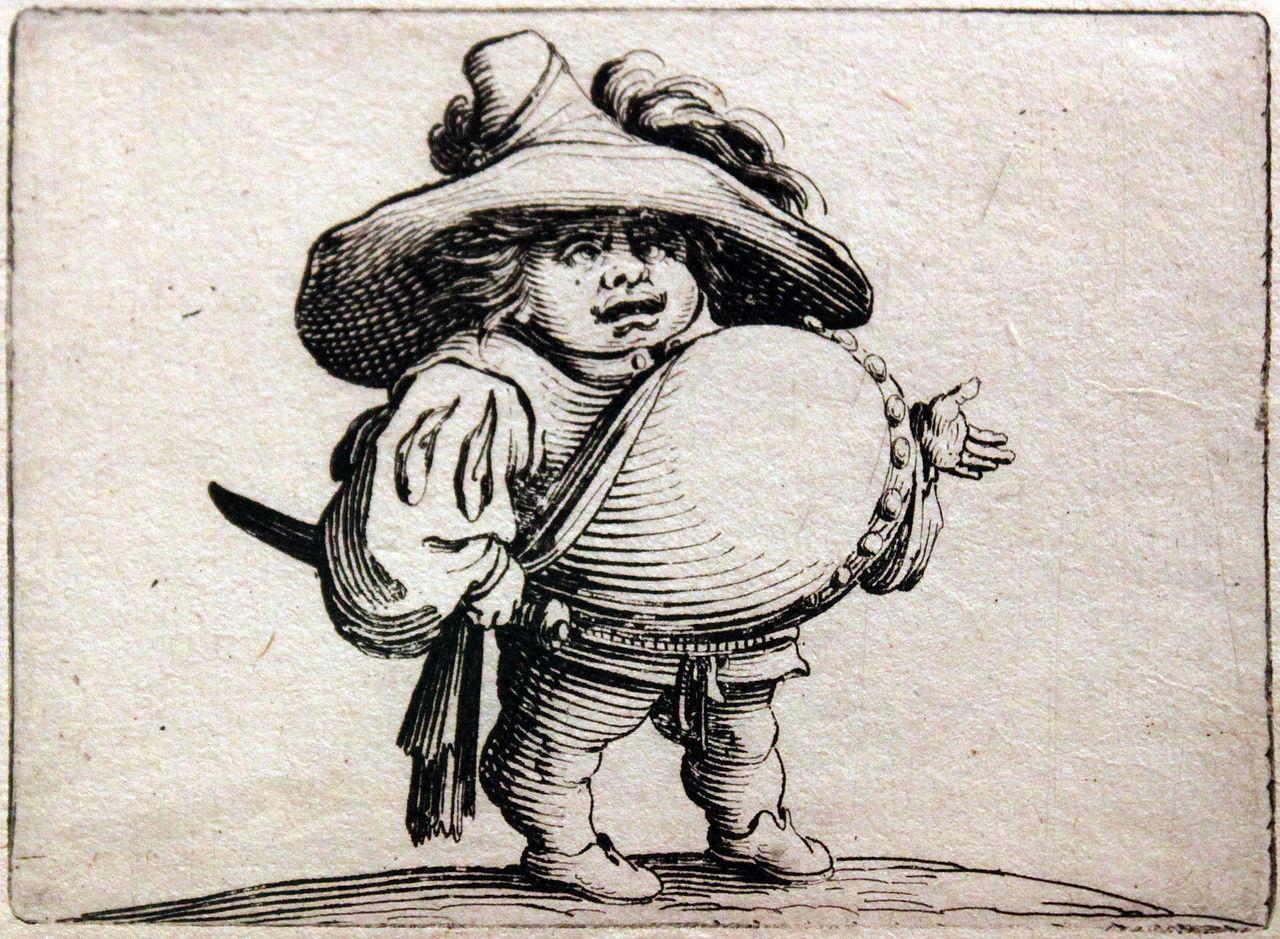 Salah satu lukisan dariseri Grotesque Dwarfs karya Jacques Callot. Sumber gambar: wikimedia.org
