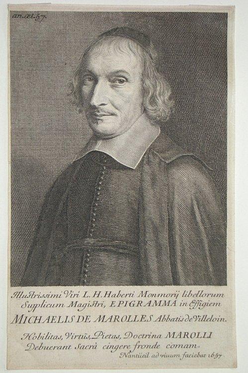 Michel de Marolles.Sumber gambar: wikimedia.org