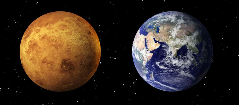 Perbandingan antar Venus dan Bumi