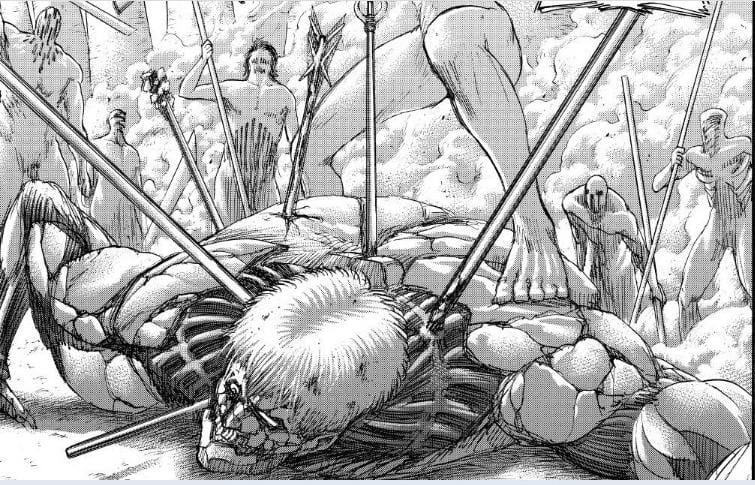 Manga Attack on Titan Chapter 137, Kematian Zeke dan Terhentinya Rumbling 8