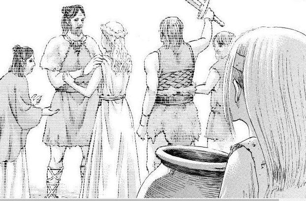 Manga Attack on Titan Chapter 137, Kematian Zeke dan Terhentinya Rumbling 4