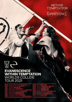 Poster Worlds Collide Tour 2021