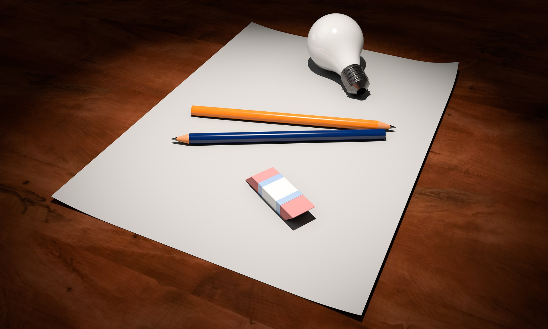 Sumber :https://pixabay.com/id/illustrations/ide-kosong-kertas-pena-lampu-1876659/