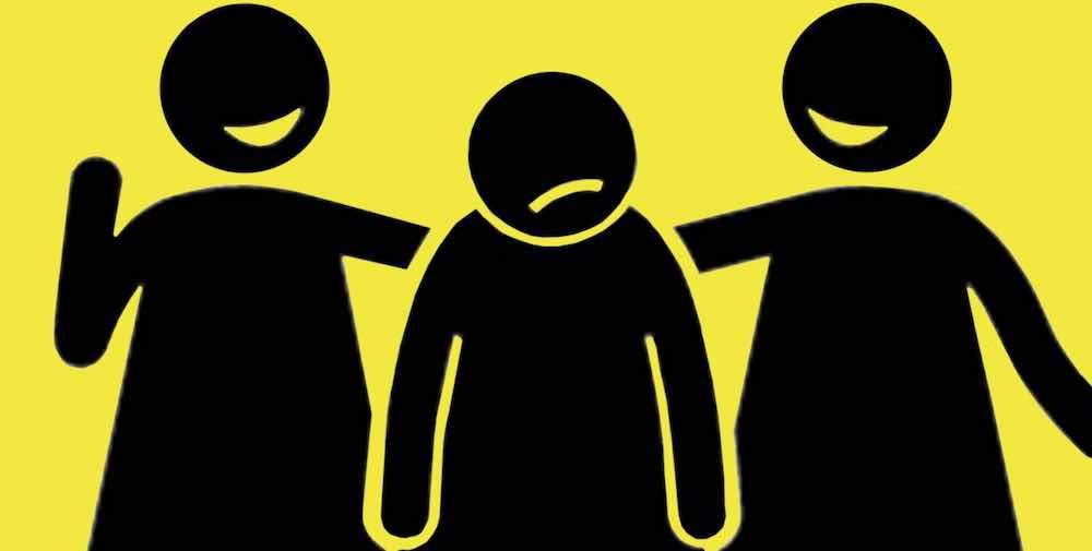 Ilustrasi pertemanan yang tidak sehat karena hanya mau berteman disaat senang dan membiarkan teman terlarut dalam kesedihan.