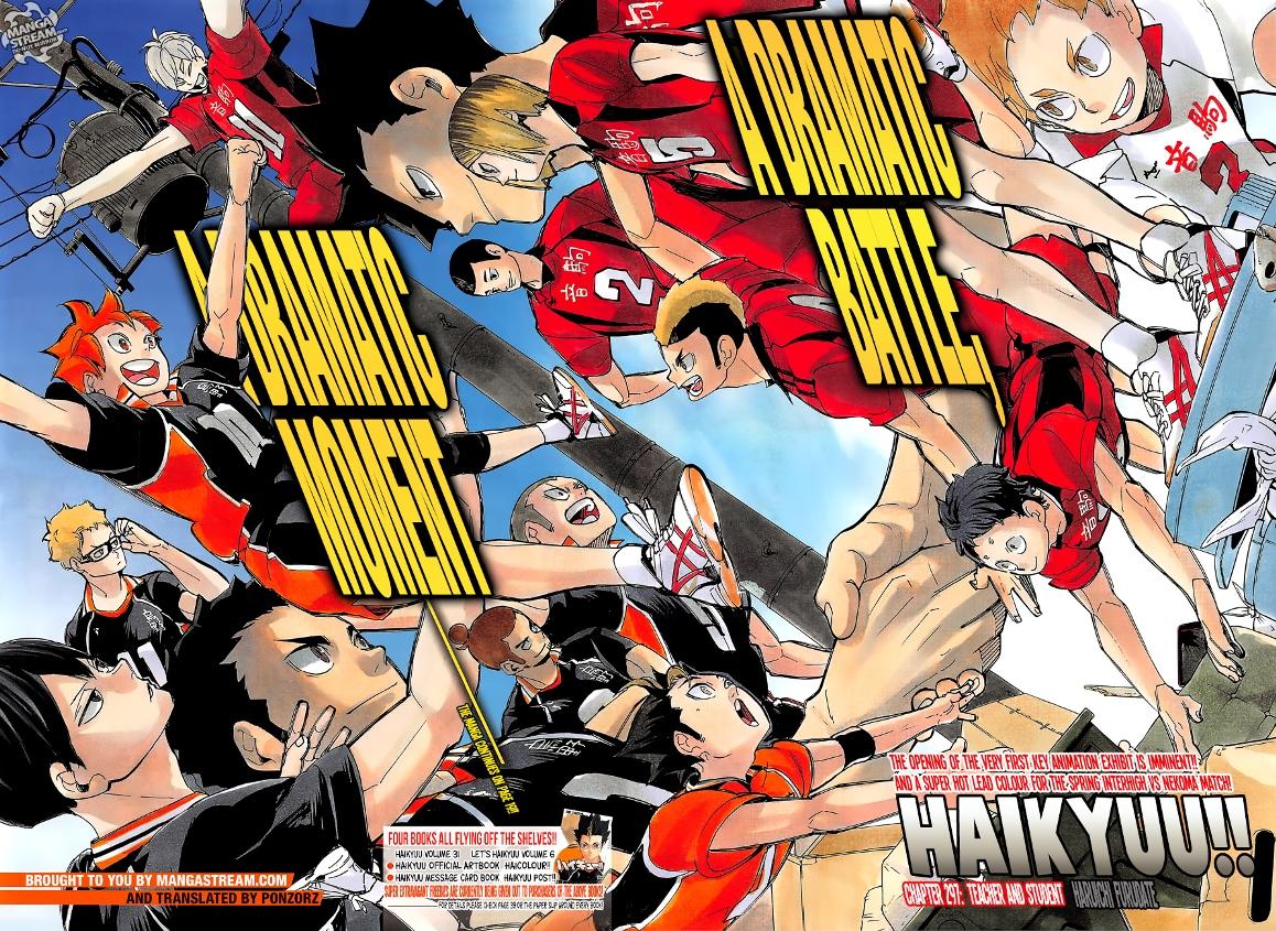 Karasuno vs. Nekoma Manga