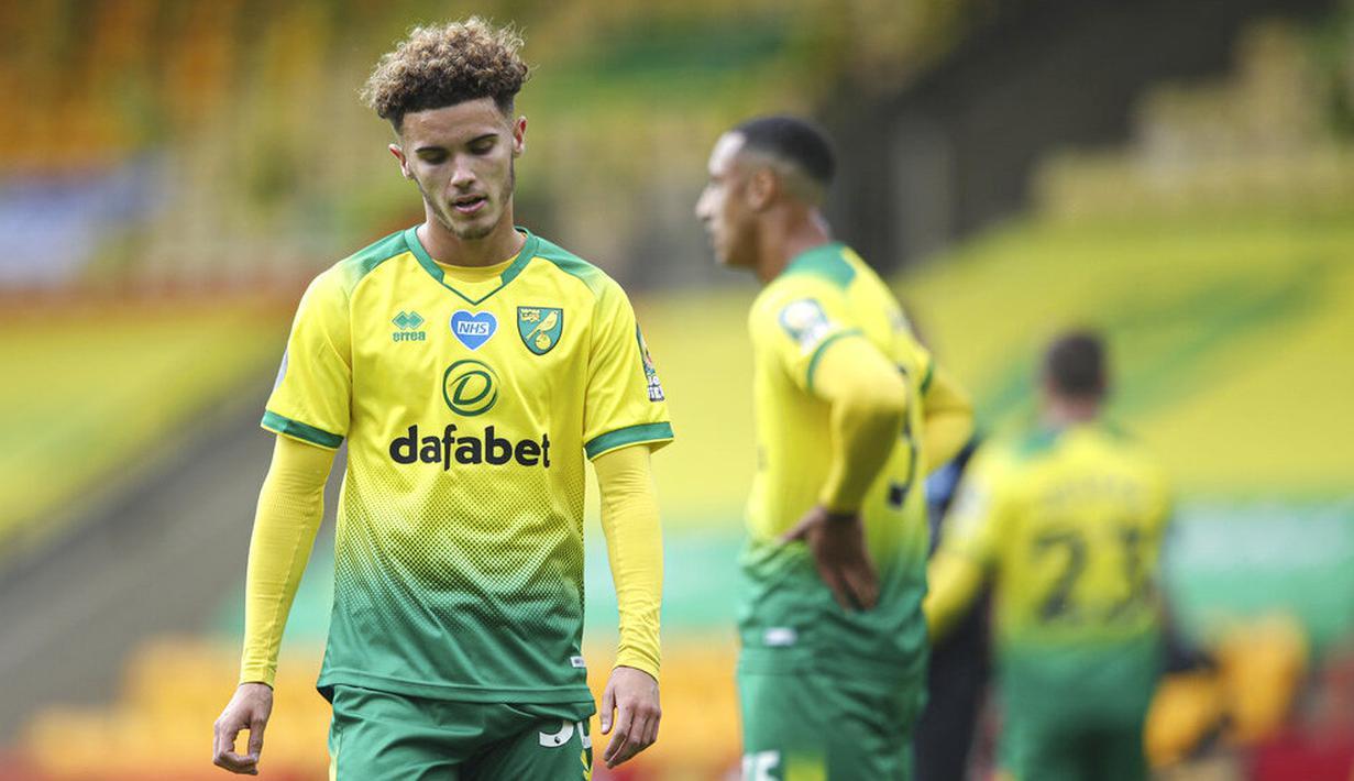 Ekspresi sedih para pemain Norwich usai mengalami kekalahan