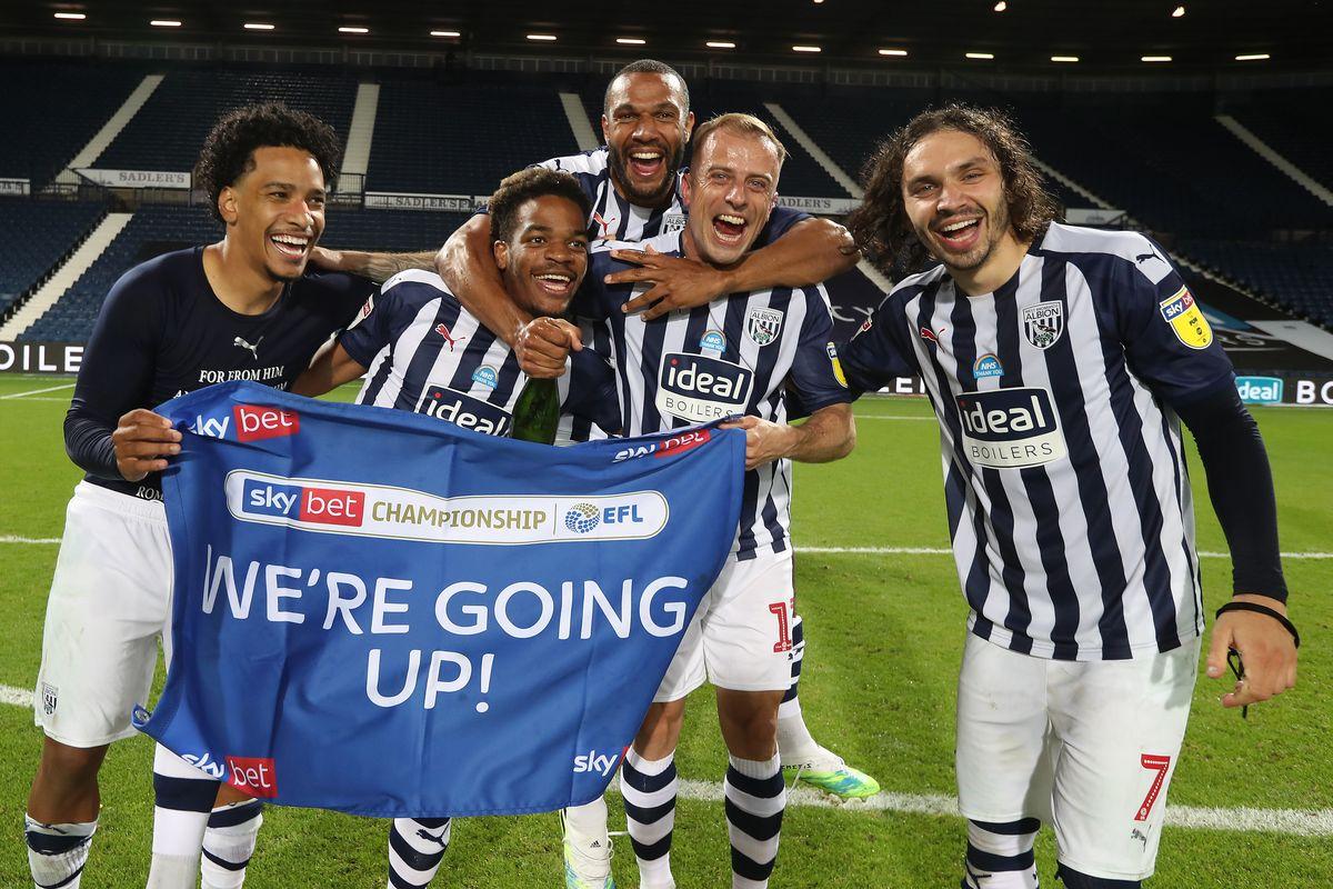 Westbrom wich Albion saat merayakan juara Divisi Championship