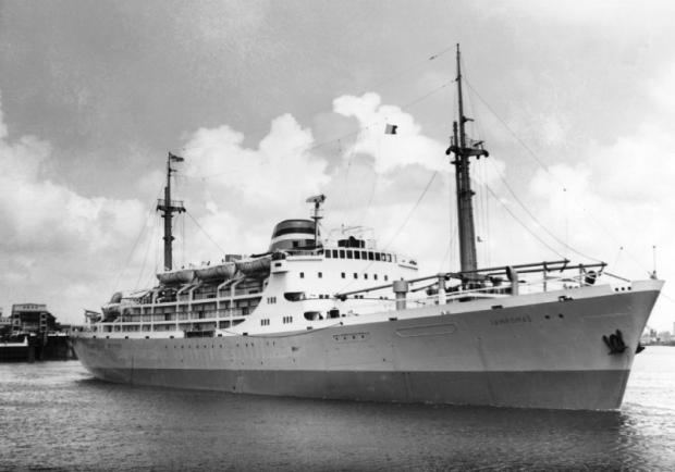 Kapal Tampomas saat pertamakali diperkenalkan kembali ke masyarakat.   (dok. maritimeconnector.com)