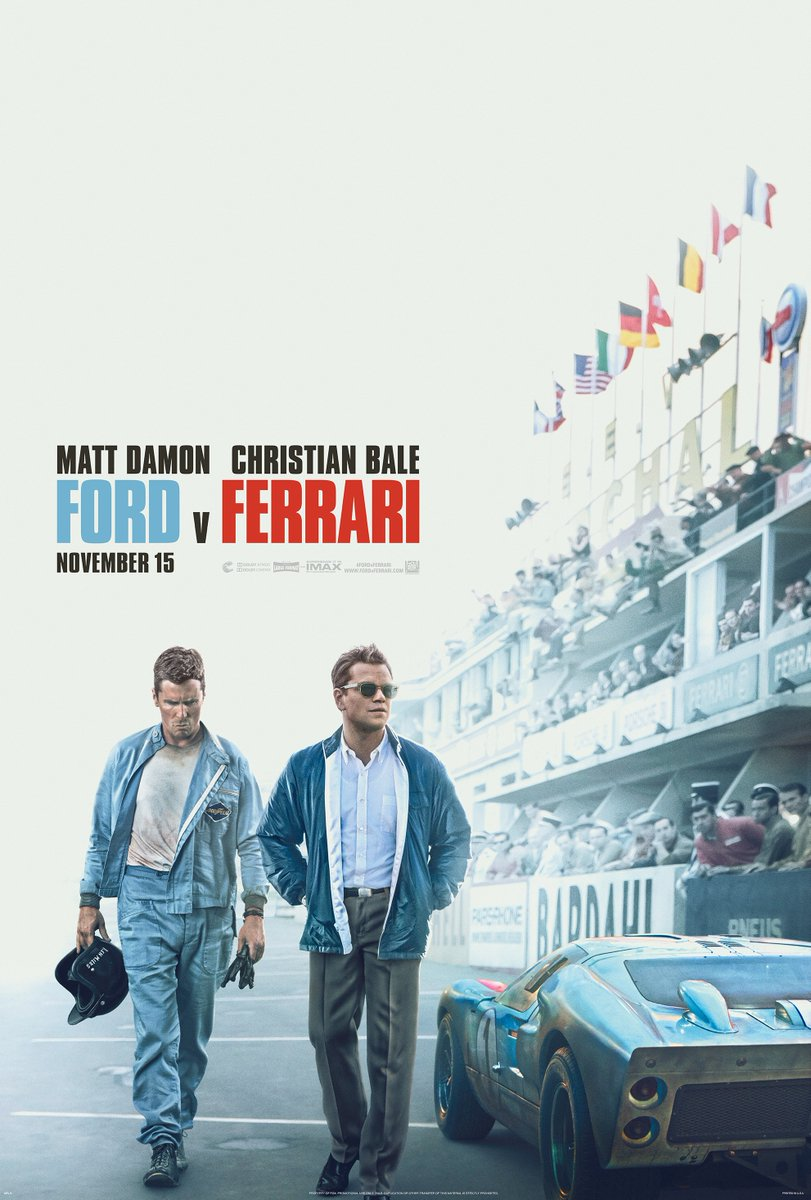 Poster Ford vs Ferrari