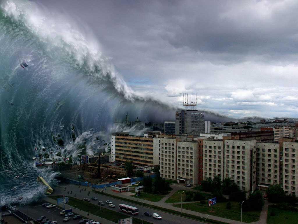 Ilustrasi proses terjadinya tsunami
