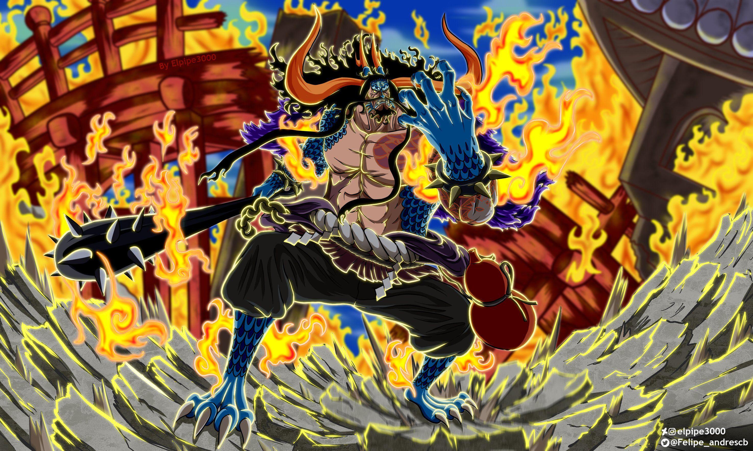 Mode Hybrid Kaido One Piece. Sumber: id.pinterest.com