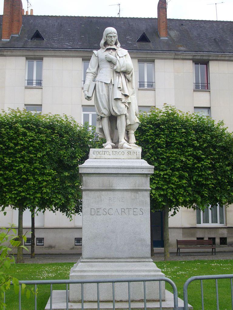 PatungRené Descartes di Tours, Prancis. Sumber gambar: wikimedia.org